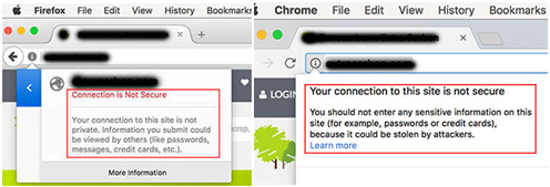 web-browser-not-secure-notifications