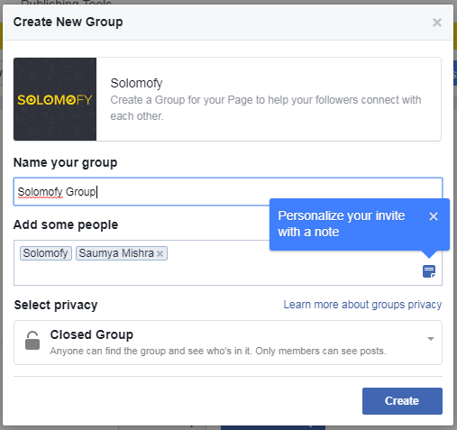 facebook group and facebook page linking
